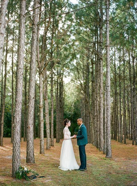 Glamorous Green & Gold Woodland Wedding Inspiration   Chic