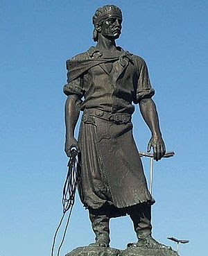A Brazilian Gaúcho. Laçador Statue, Porto Aleg...