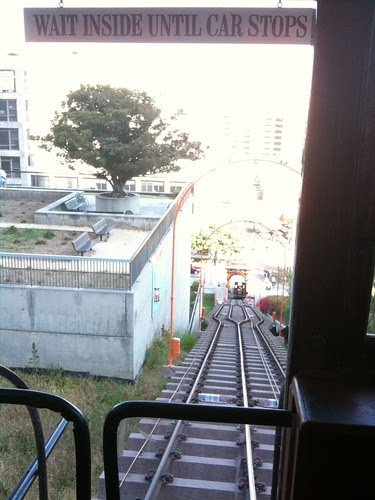 From the top of the LA railway (funicular)