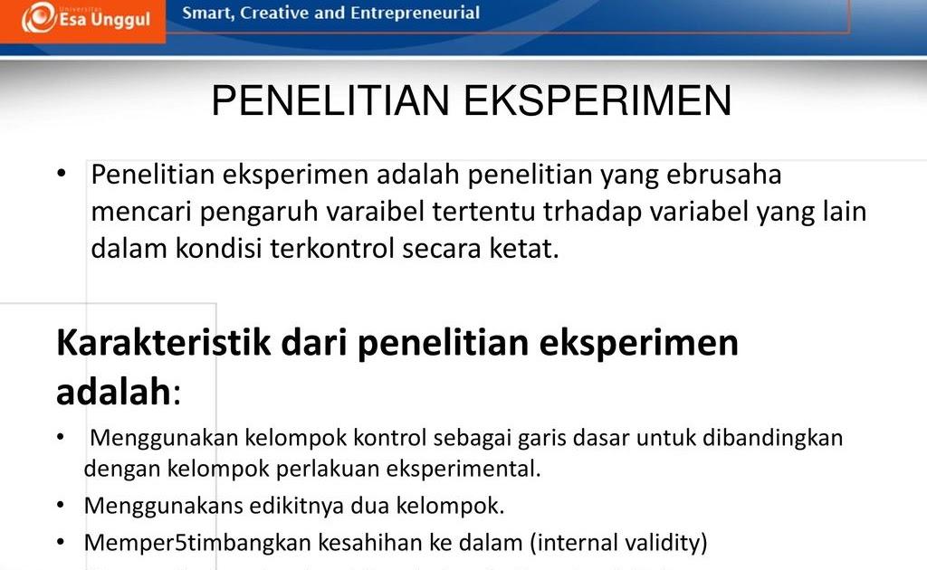 Contoh Skripsi Quasi Eksperimen Contoh Soal Dan Materi Pelajaran 8