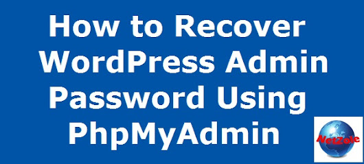 How to recover WordPress admin password using PhpMyAdmin | Netzole