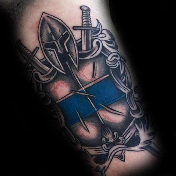 Pictures Of Thin Blue Line Tattoo Kidskunstinfo