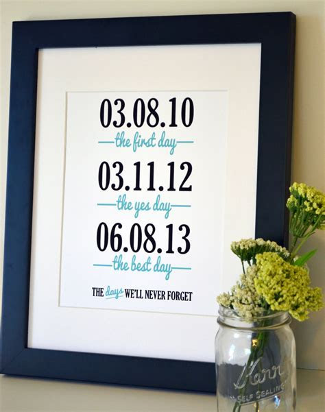 Wedding sign print 11x14 The first day the yes day Anniversary