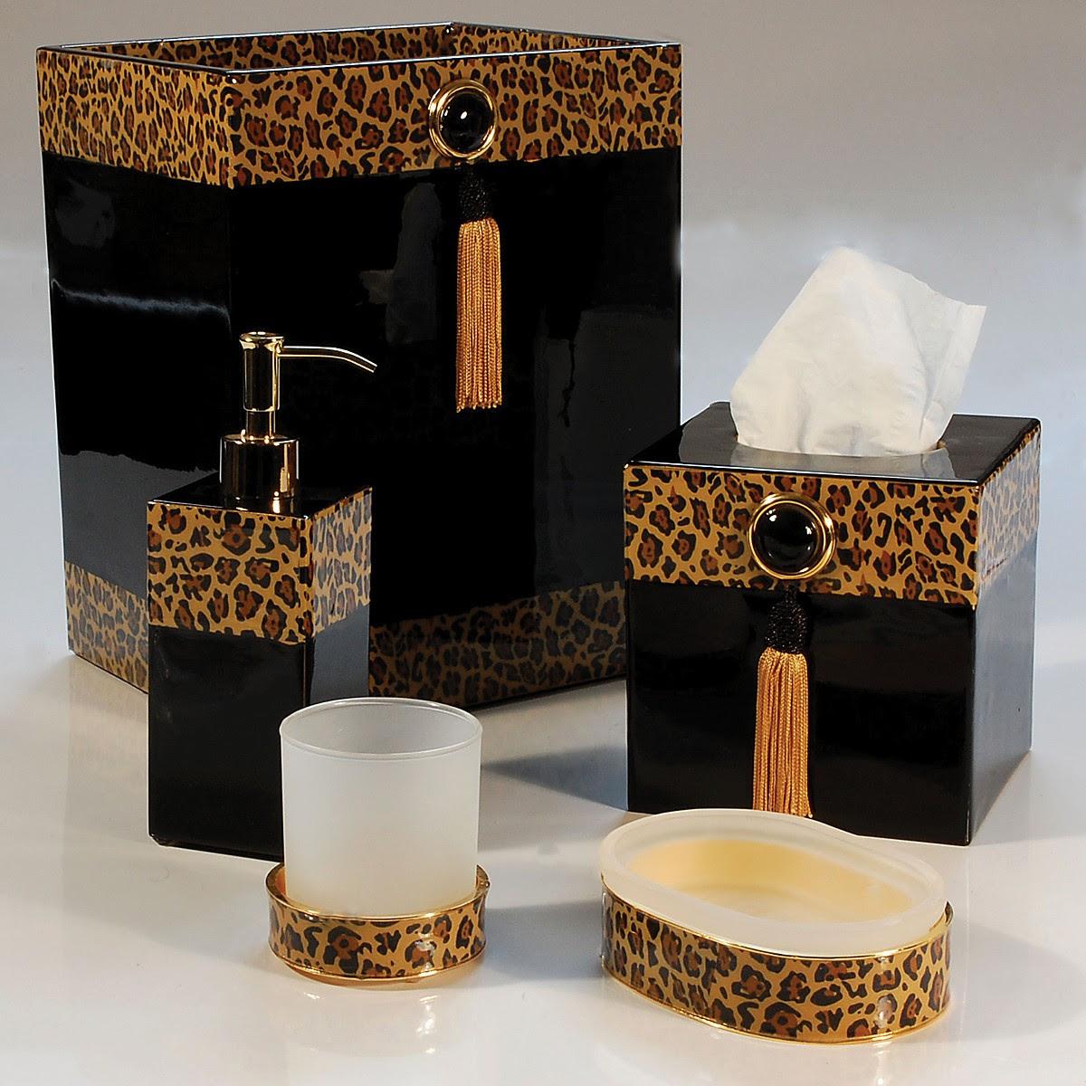 Leopard Bathroom Decor - Bathroom decorations - Animal ...