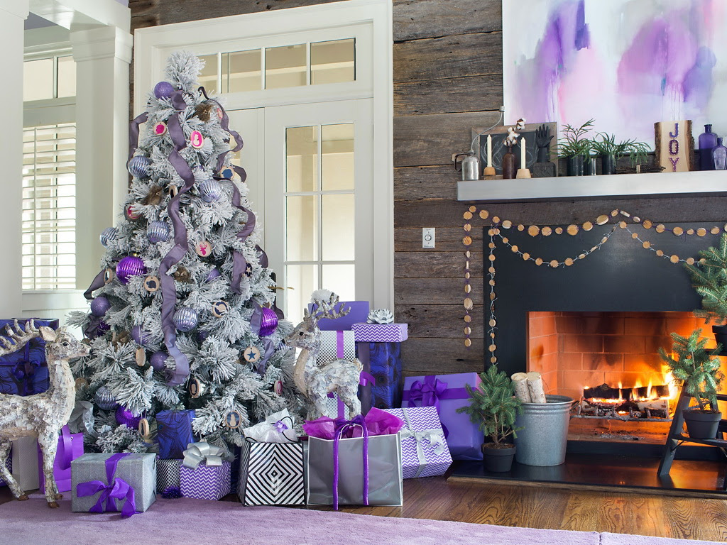 HGTV Modern Holiday Color Palette Lavender Grey Violet 3