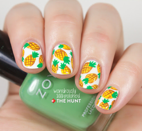 http://blog.thehunt.com/post/86218969552/mani-monday-pineapple-print-nail-tutorial