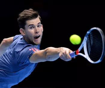 Milos Raonic x Dominic Thiem - ATP Finals (Foto: Clive Brunskill / Getty Images)