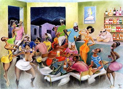 O universo do samba muito bem retratado por Lan