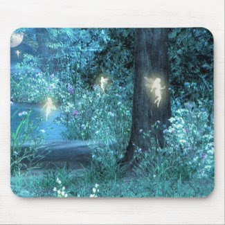 Night Magic fairy flight mouse pad mousepad