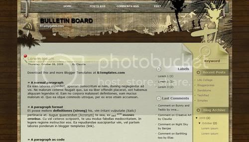 Blogger Gray Travel Board Template
