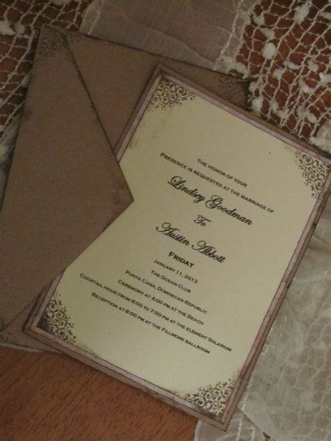 96 best images about Handmade wedding invitations on
