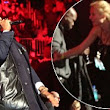 Jay Z invites Gwyneth Paltrow and children up on stage as he rings in the new year with Coldplay... and racks up a £250,000 bar tab