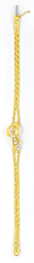 Original-Foto 3, DIAMANT-GOLD-ARMBAND MIT 5 BRILLANTEN 0,18ct LUXUS! NEU