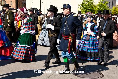 Reenactors in Lincoln Funeral Procession, Springfield, Illinois