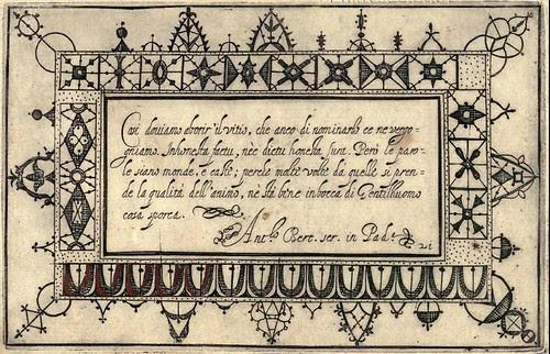 Bertozzi + Zanilla 1604 Lace Typography a