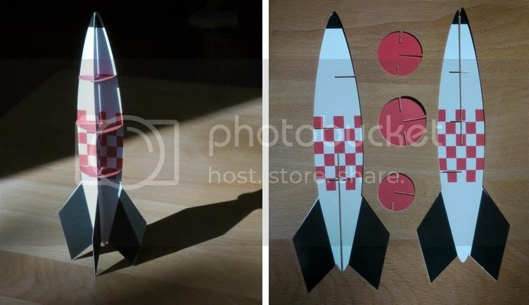 papermau take to the stars rocket paper model by digitprop. Black Bedroom Furniture Sets. Home Design Ideas