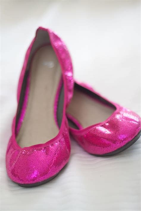 hot pink bridal ballet flats valentines day ideas