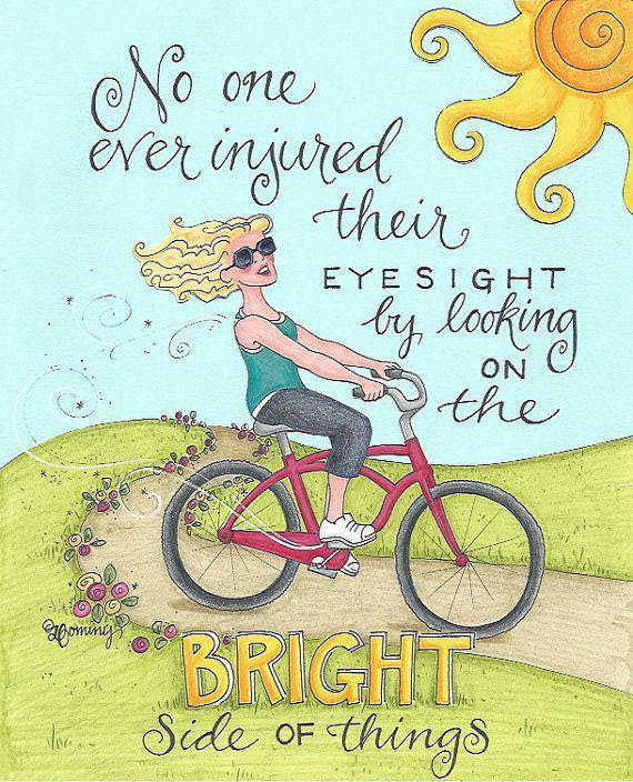 Image result for looking on the bright side