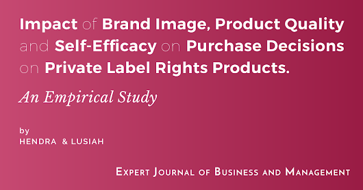 Impact of Brand Image, Product Quality and Self-Efficacy on Purchase Decisions on Private Label Rights Products