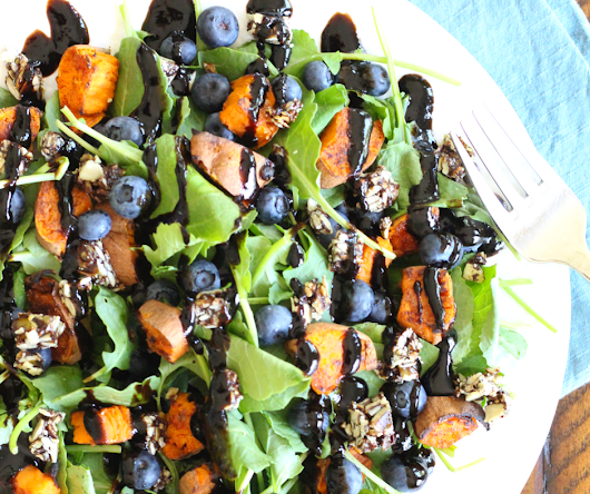Sweet Potato and Blueberry Superfood Salad - The Fit Foodie Mama