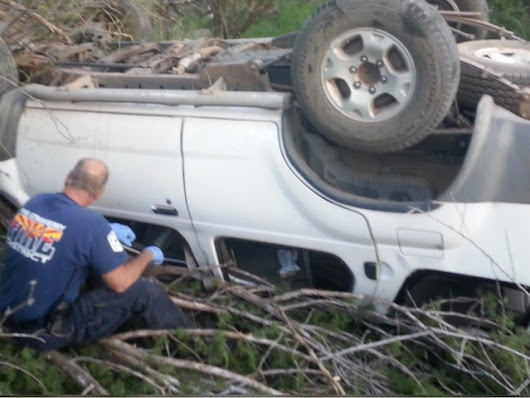 3 teens rescued after car veers off cliff, lands on girl