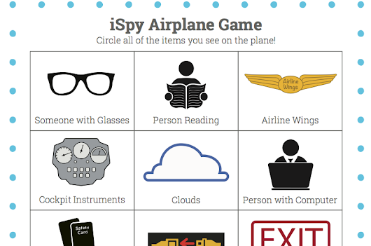 Airplane iSpy free printable | Dotting the Map