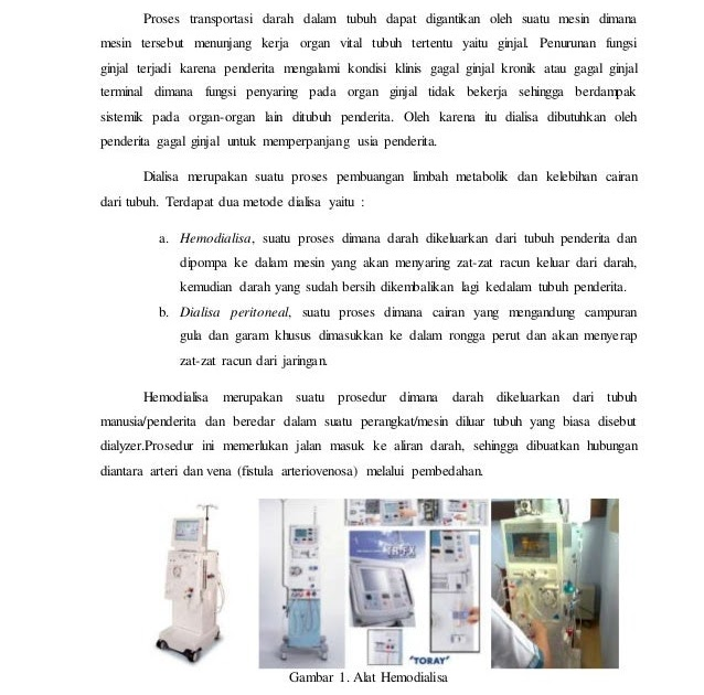 Jelaskan Cara Kerja Alat Dialisator Mesin Cuci Darah ...