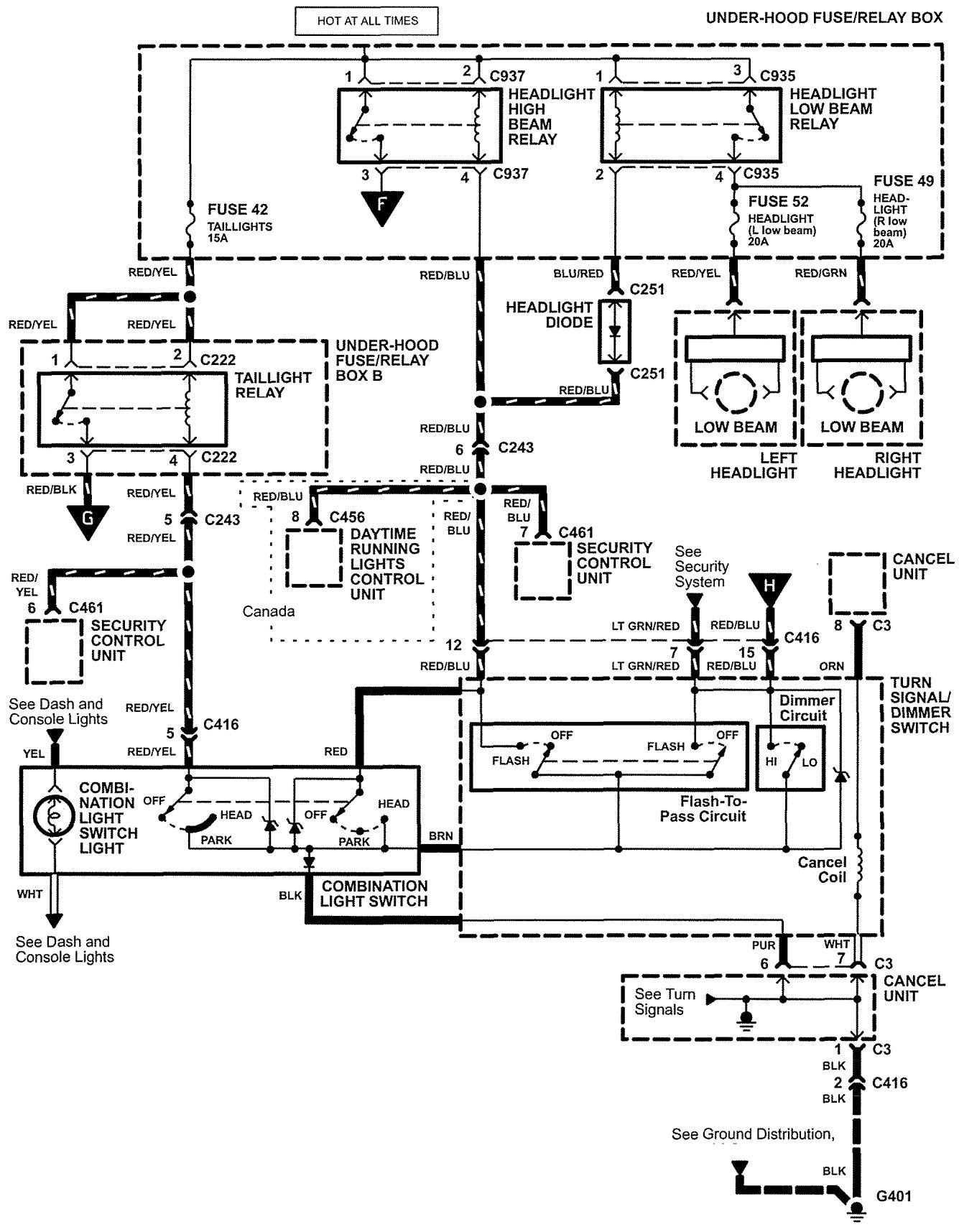 Acura Tail Light Wiring Diagram