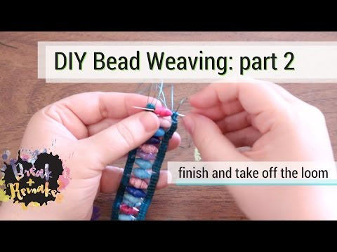 Bead weaving - part 2 - finish weaving and making a closure