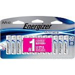 Energizer Ultimate Lithium AA 1.5v Long-Lasting Lithium Batteries - 12 Pk