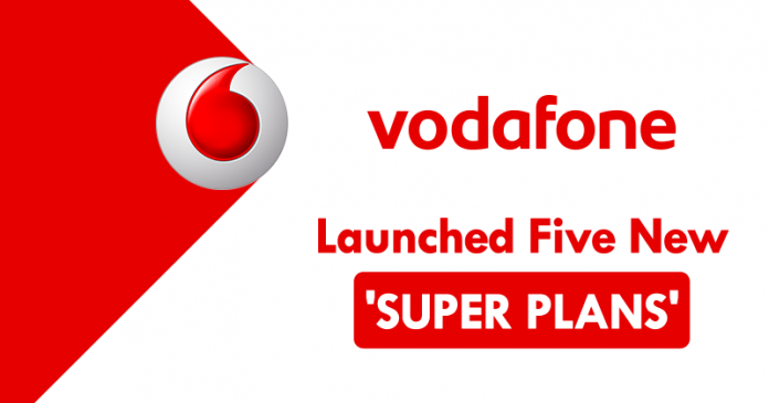 vodafone just launched five new super plans for prepaid. Black Bedroom Furniture Sets. Home Design Ideas