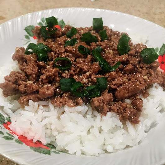 Asian Style Beef Rice Bowl - GrubHeaven.com