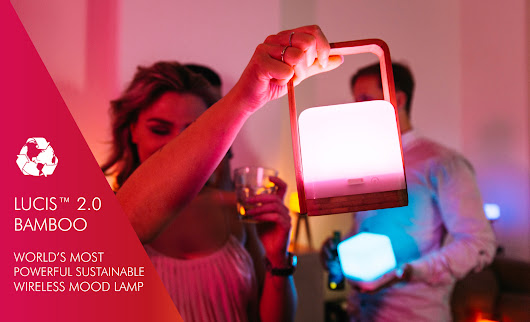 Lucis 2.0 Bamboo Wireless lighting Kickstarter Campaign Giveaway!