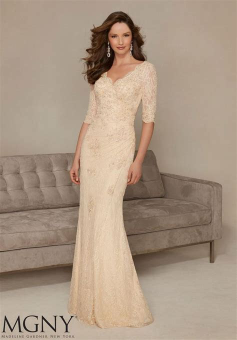 MGNY by Mori Lee 71325 Stretch Lace Mothers Gown   Dress