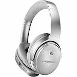 Bose QuietComfort 35 II Wireless Noise-Canceling Silver Headphones
