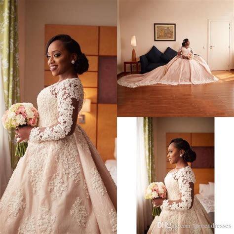 Discount Champagne Vintage Plus Size Wedding Dresses Lace