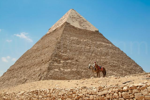 Horseman at Pyramid