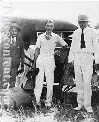 JRD Tata, chairman of Tata Group of Industries, arrives at Juhu airport on his inaugural flight carrying mail from Karachi on October 15, 1932. He is accompanied by Captain Homi Bharucha (left) and Nevill Vintcent.