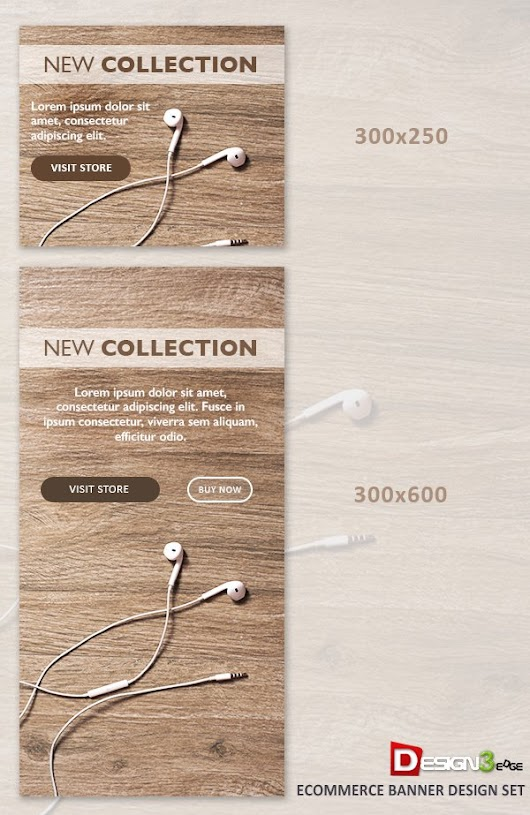 Ecommerce Banner Design Set | Design3edge