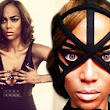 'Where's my whip?' Tyra Banks flaunts her ample cleavage in a revealing black dress in snaps from bondage-style photo shoot