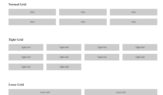 Grid Pattern Naming Conventions