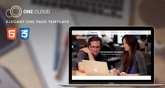 OneCloud – Elegant One Page Template | Free Templates