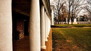 The Academic Village at the University of Virginia in Charlottesville, Virginia.