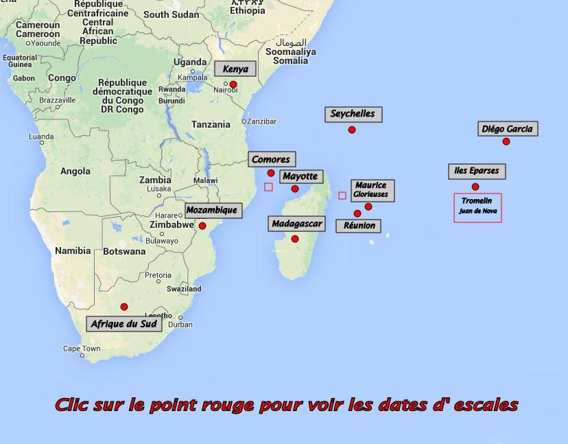 Carte Afrique Comores