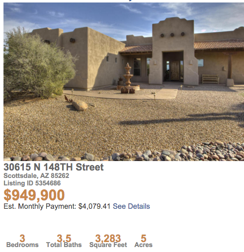 5 acres |Home |Horse Setup |Rio Verde » SCOTTSDALE |CAVE CREEK |RIO VERDE |CAREFREE |AZ |MLS |LISTINGS