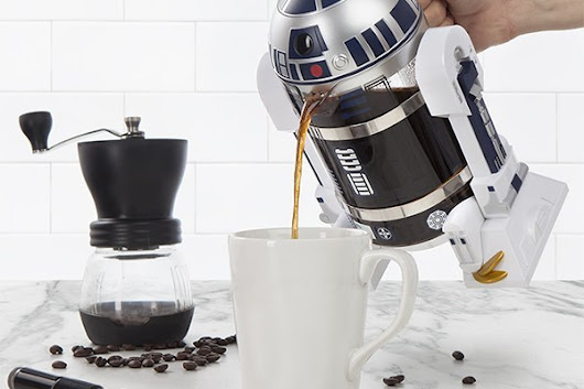 Incredible Star Wars R2-D2 Coffee Press - Unshootables