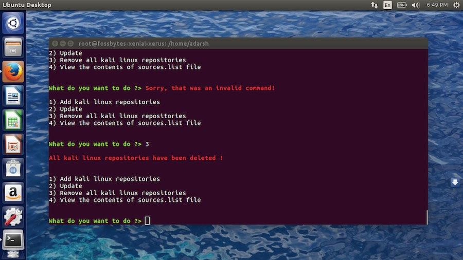 kali linux tools on ubuntu using katoolin
