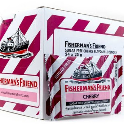 Fisherman's Friend Sugar free CHerry Flavour (1 BOX)size :24x25 g - おみあげタイどっとコム、おみやげタイどっとコム