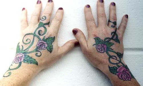 Buguru Turueng Tattoo Rose Vine Tattoo