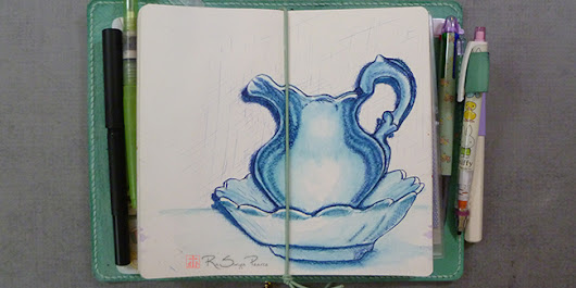 Pitcher and Basin, Art 365-16-28 - Faithworks Art Studio
